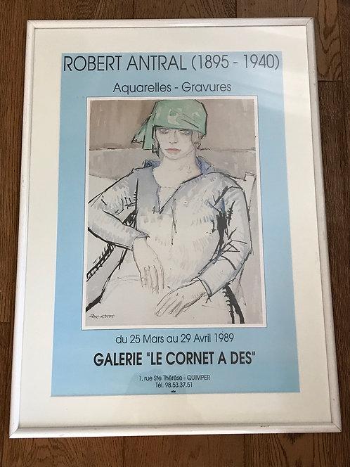 Louis Robert ANTRAL Affiche Le Cornet à dés