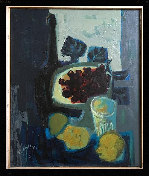 Schlegel Fernand (1920-2002) - Nature morte à la coupe