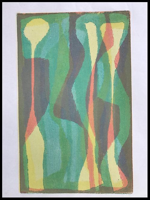 Alwin Carstens Bois Gravé Couleurs Expressionisme