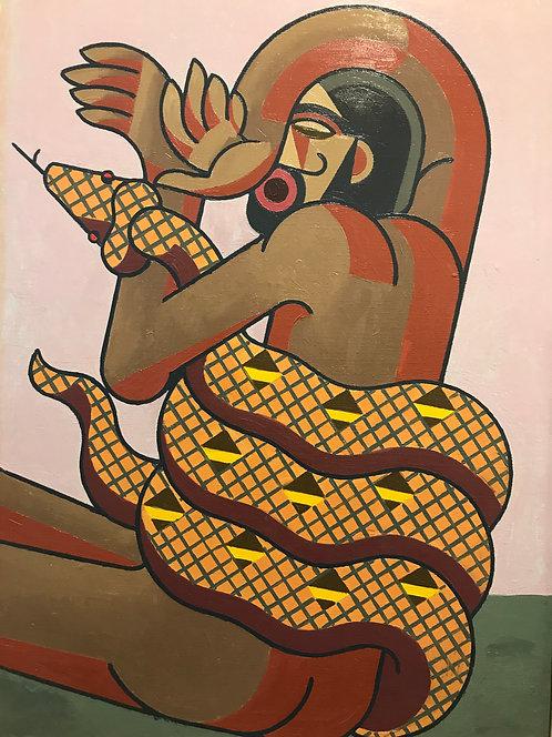 Dauchot Fernand dit Daucho (1898-1982) - L'Homme au serpent