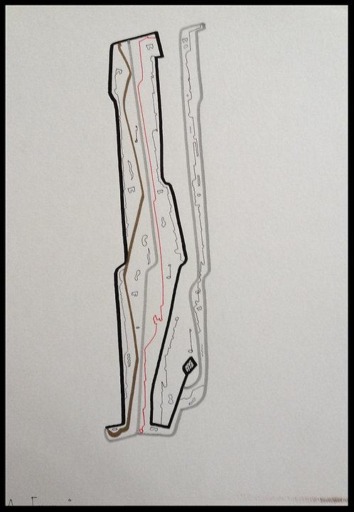 Sartorius Santiago (1963-) - Technique mixte sur papier - 04