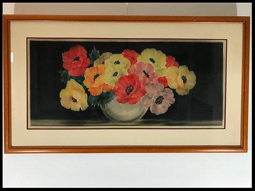 Grande aquatinte - Bouquet