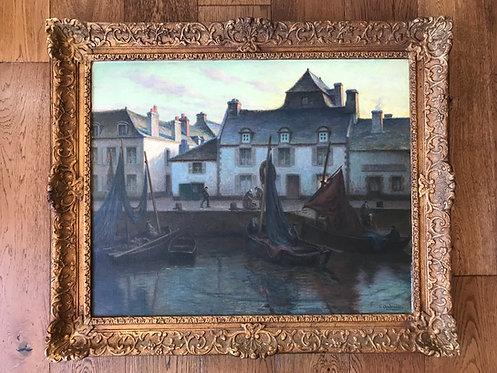 Andreau René (1870-1945) - Crépuscule à Concarneau