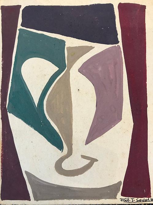 Sevellec Joel Jim (1931-2007) - Cruche blanche
