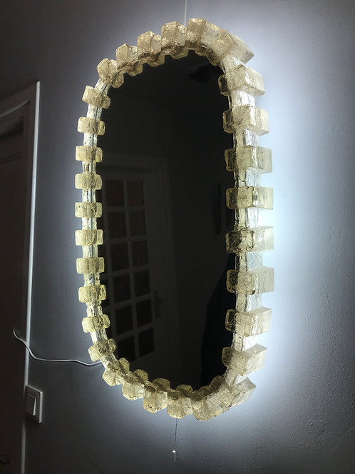 Grand miroir lumineux bis - Années 1970