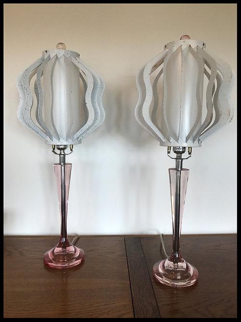 Sottsass Italian Design Paire de grande lampes - A