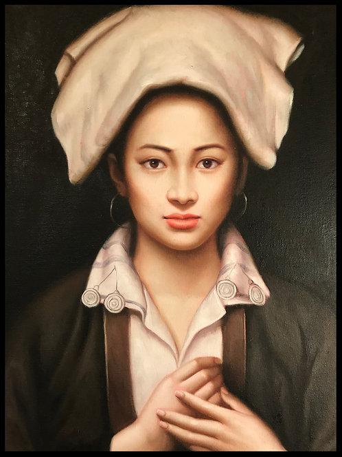 Zhang Li (1958) - Portrait de femme ethnique
