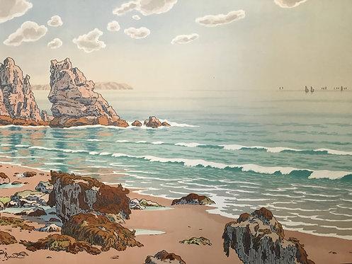 Henri Riviere La plage