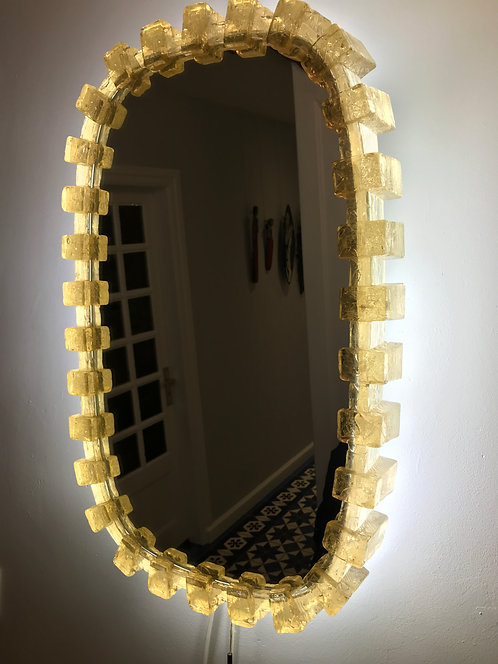 Grand miroir lumineux - Années 1970