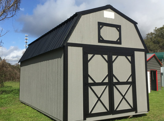 10x20 Lofted Barn Dark Grey Black