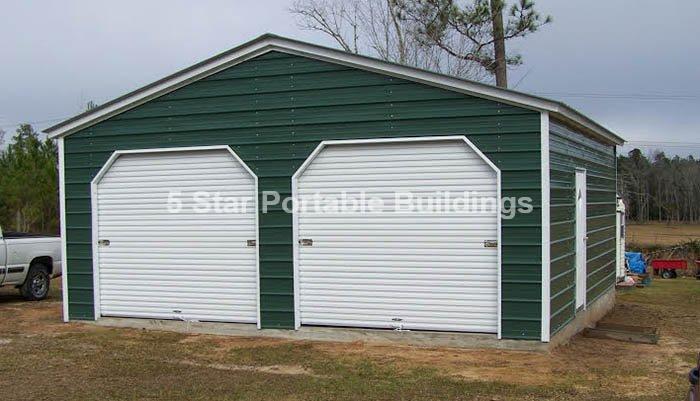 24x28x10 2 Bay Horizontal Roof