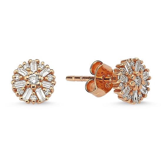 Multi Diamond Circle Diamond Studs