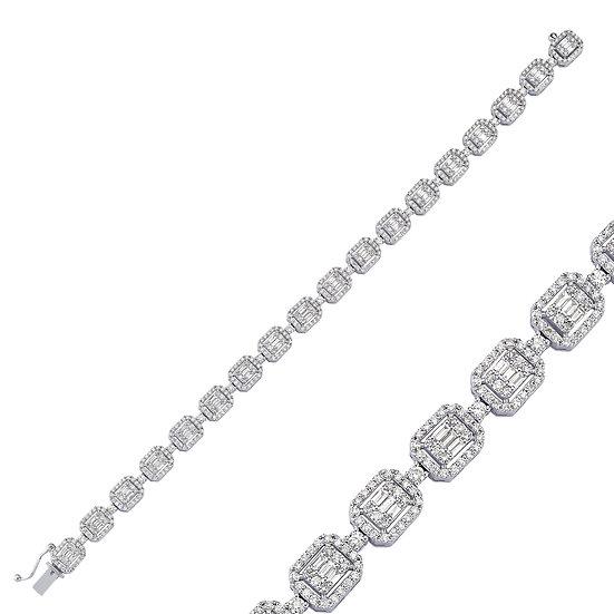 Unique Design Baguette Diamond Bracelet