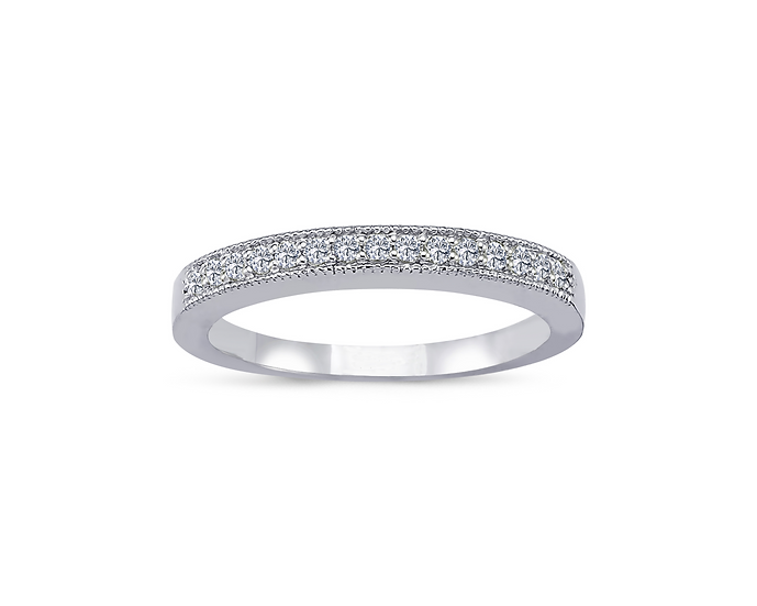 Channel Setting Half Eternity Engagement Ring