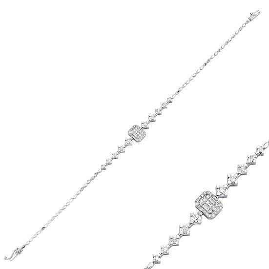 Baguette & Round Diamond Bracelet