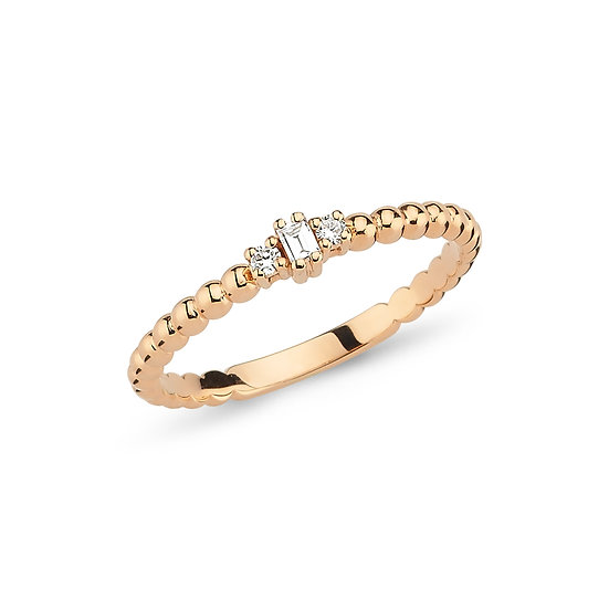 Baguette Ring with Round Diamonds