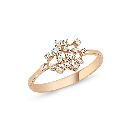Scattered Multi Diamond Ring