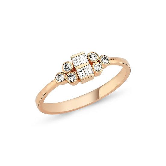Mixed Shaped Diamond Engagement Ring