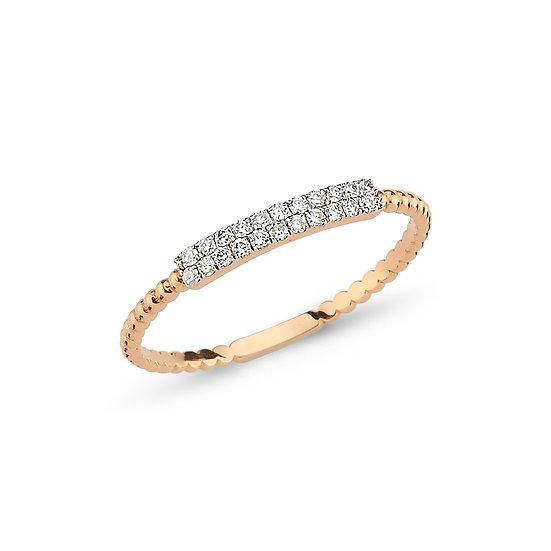 Micro Pave Beaded Diamond Ring