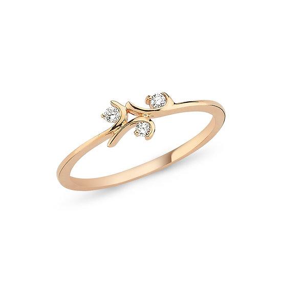 Twig Diamond Ring in Gold