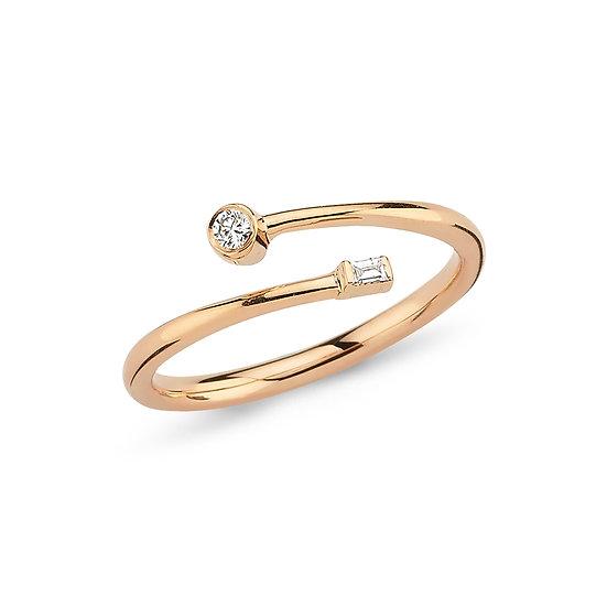 Open Twist Diamond Ring