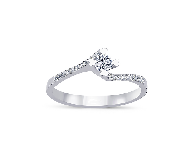Twisted Pave Diamond Engagement Ring