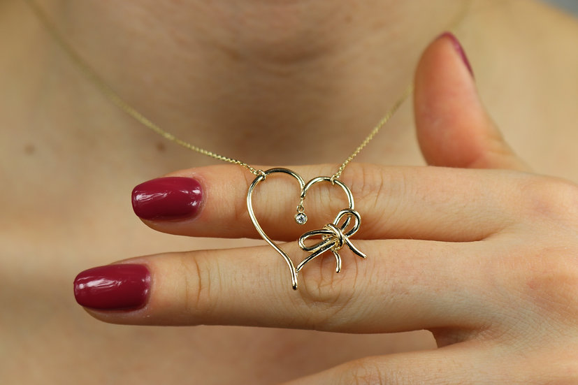 Heart & Bowknot Necklace