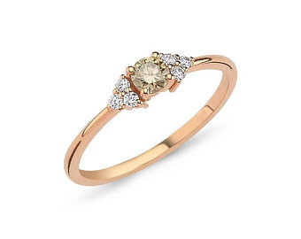 Champagne Color Diamond Ring