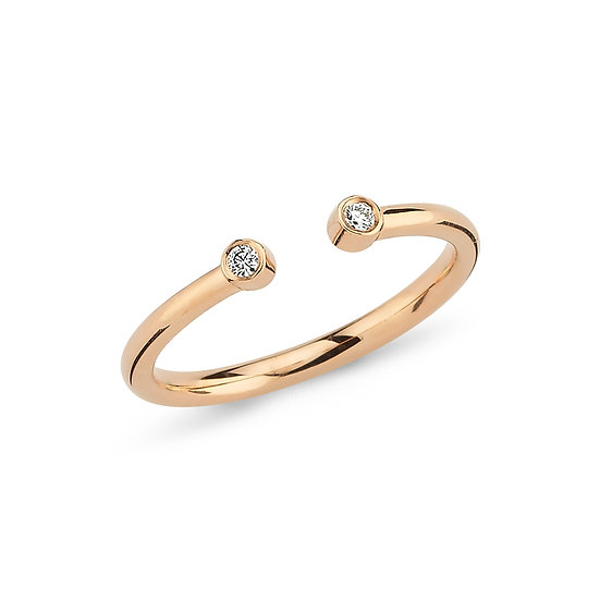 Open Dual Diamond Ring