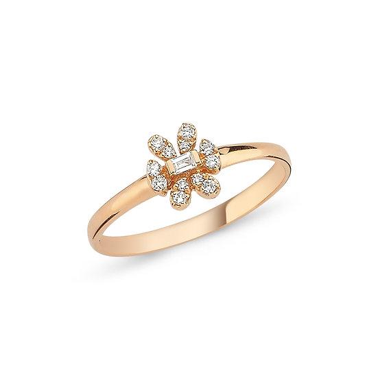 Cute Daisy Diamond Ring