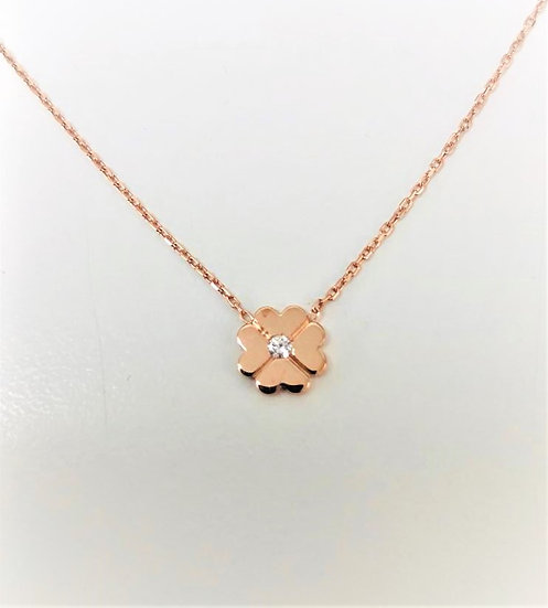 Shamrock Diamond Necklace