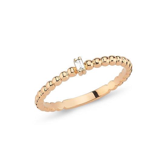 Solitaire Baguette Diamond Ring