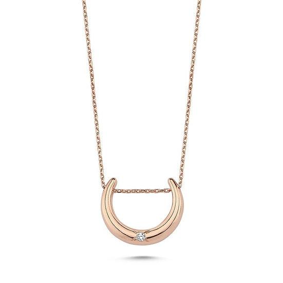 Mini Moon Diamond Necklace