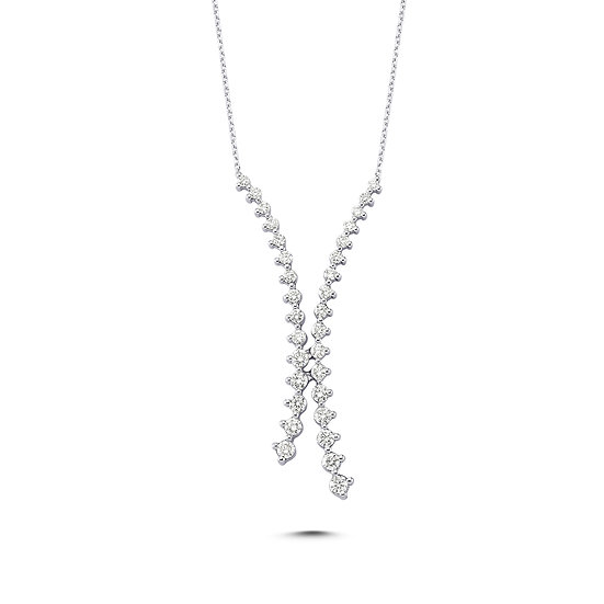 Diamond Avalanche Staggered Necklace