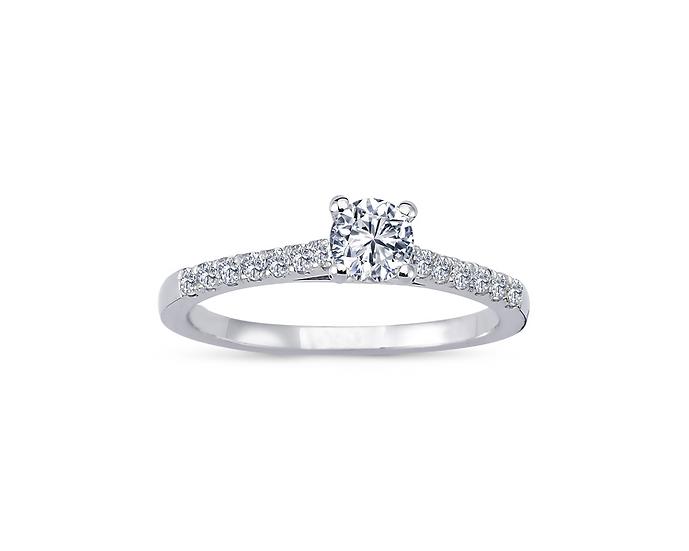 Petite Side Stone Diamond Engagement Ring