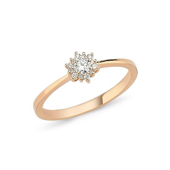 Starburst Diamond Engagement Ring