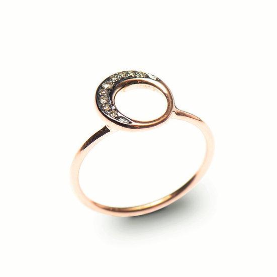 Moon Diamond Ring