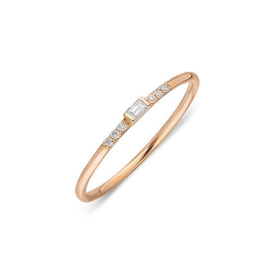 Minimalist Baguette Diamond Ring