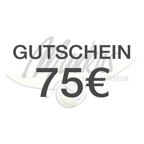 Wertgutschein über 75€