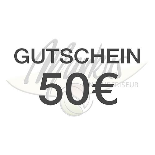 Wertgutschein über 50€