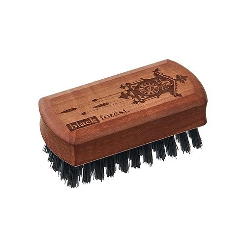 """Mini Brush """"Black Forest"""" aus Birnbaumholz, geölt, Naturborste, Schwarzwaldmotiv"""
