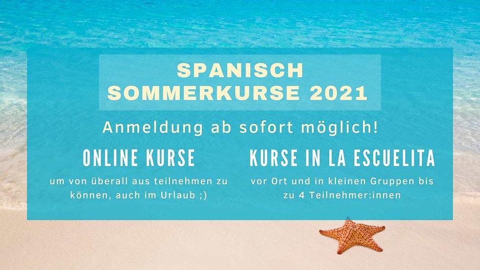 Spanisch Sommerkurse 2021 Salzburg