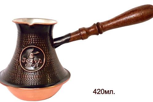 С песком внутри. Армянская медная джезва + кофе JEZVA CLASSIC в подарок