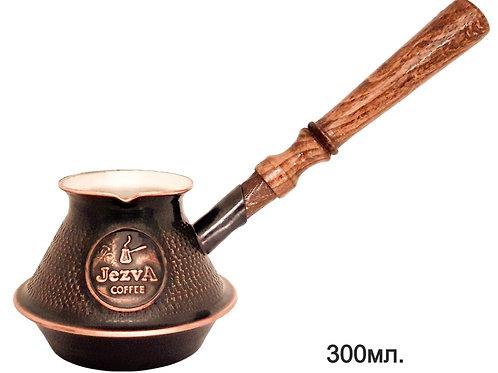 Армянская медная джезва для ИНДУКЦИОННЫХ плит + кофе JEZVA CLASSIC в подарок