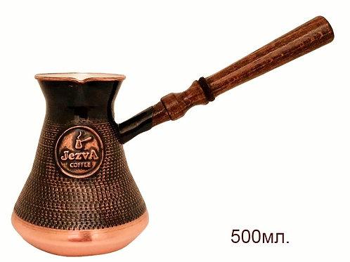 Армянская медная джезва ручной работы + кофе JEZVA CLASSIC в подарок