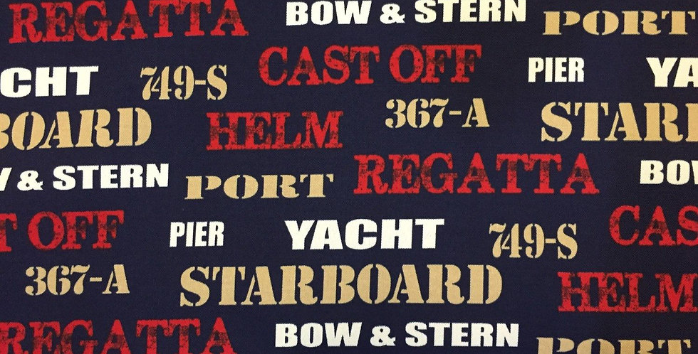 Yacht Club - Red - Navy - Gold - White