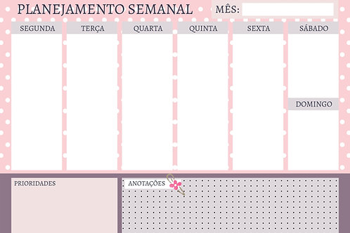 Miolo Planner Rosa Dots A4
