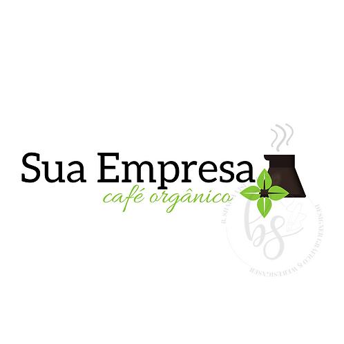 Logotipo Café Orgâncico Pré-Criado