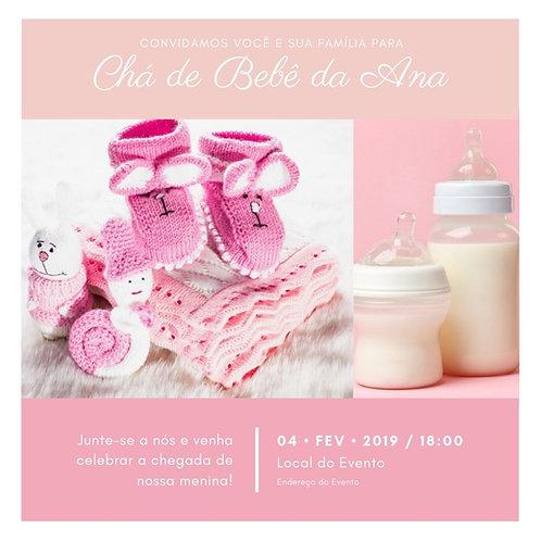Convites Personalizados Chá de Bebê