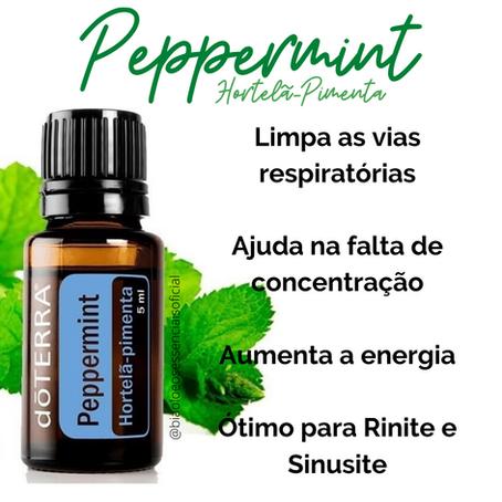 Óleo Essencial Peppermint ou Hortelã Pimenta